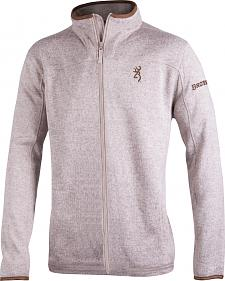 Browning Men's Oatmeal Full-Zip Laredo Fleece Sweater