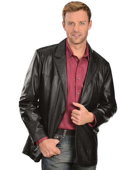 Scully Lamb Leather Blazer - Big & Tall