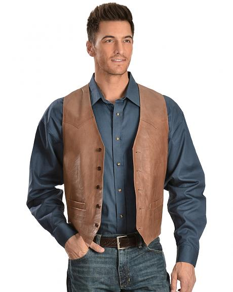 Scully Lamb Leather Vest - Big
