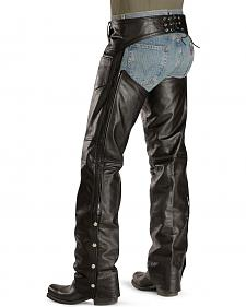 Interstate Leather Motorcycle Chaps - Big