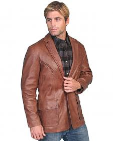 Scully Whipstitch Lambskin Leather Blazer - Reg, Tall