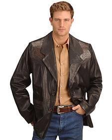 Kobler Hand Tooled Leather Blazer