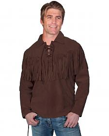 Scully Fringed Boar Suede Leather Shirt
