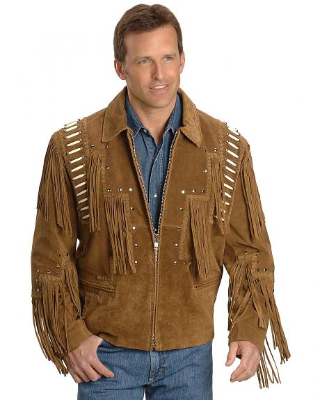 Bone Fringed Leather Jacket