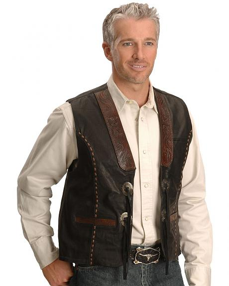 Kobler Tooled Leather Vest