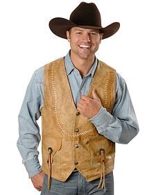 Kobler Raw Edge Leather Vest