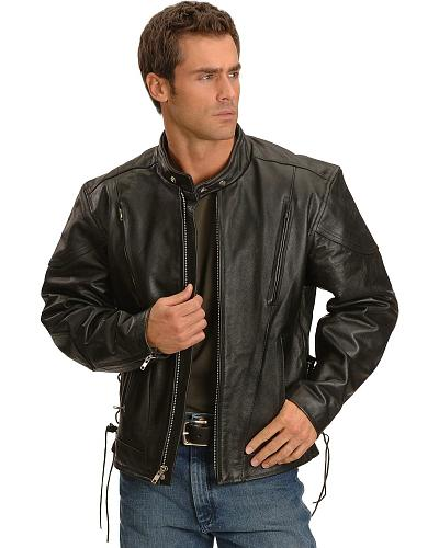 Interstate Leather Touring Motorcycle Leather Jacket Western & Country I1048
