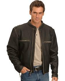 Milwaukee Motorcycle Crazy Horse Leather Jacket