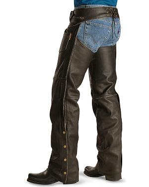 Milwaukee Motorcycle Crazy Horse Leather Chaps