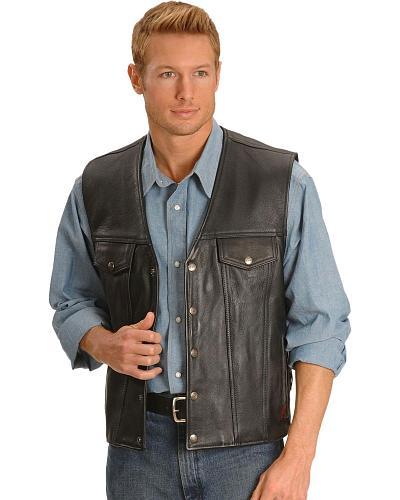 Discount clothing stores Milwaukee Gambler Leather Motorcycle Vest