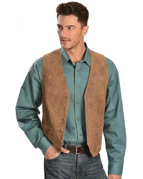 Scully Lamb Leather Western Vest