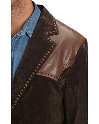 Cripple Creek Two-tone Suede Leather Blazer at Sheplers