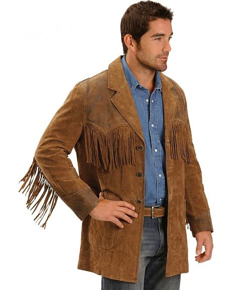 Cripple Creek Suede Leather Fringe Blazer