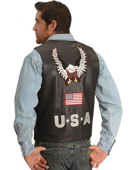 Interstate Leather USA Eagle Motorcycle Vest