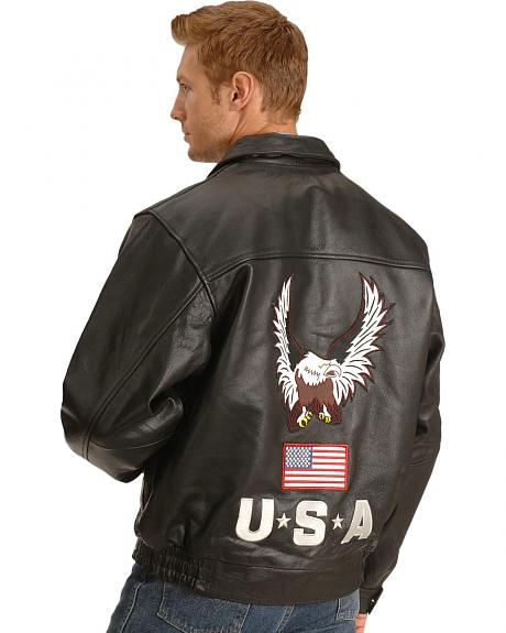 Interstate Leather USA Eagle Motorcycle Jacket