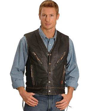 Interstate Leather Gangster Motorcycle Vest