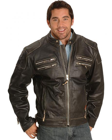 Interstate Leather Gangster Motorcycle Jacket