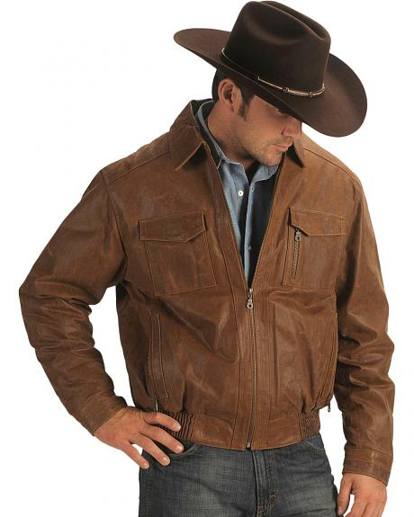 Cripple Creek Leather Bomber Jacket