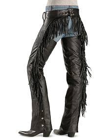 Leather Fringe Chaps