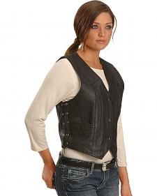 Interstate Leather Women's Side Laced Vest