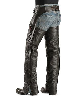 Interstate Leather Snap Out Liner Leather Chaps