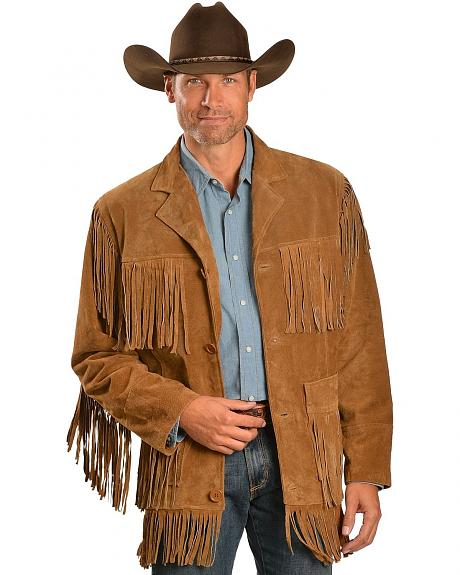Red Ranch Full Fringe Suede Leather Jacket