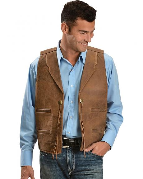 Scully Concho Leather Vest