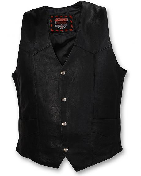 Interstate Leather Motorcycle Vest - XL