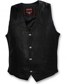 Interstate Leather Motorcycle Vest - Big & Tall