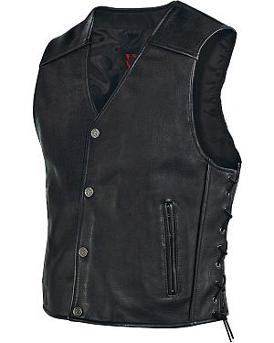 Milwaukee Motorcycle Side Lace Leather Vest
