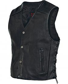 Milwaukee Motorcycle Side Lace Leather Vest - XL
