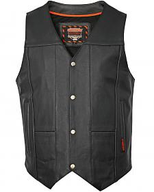 Interstate Leather Multiple Pocket Vest - Big & Tall