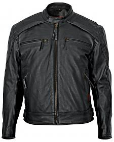Milwaukee Motorcycle Scooter Leather Jacket - Big & Tall