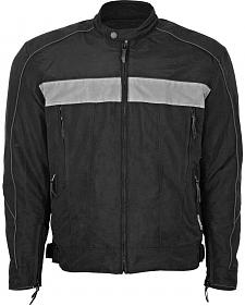 Interstate Leather Cordura Reflective Jacket