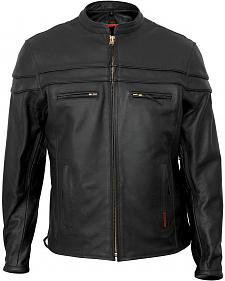 Interstate Leather Scooter Jacket - Big & Tall