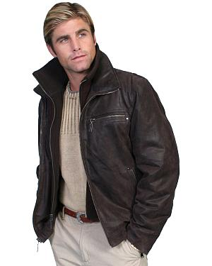 Scully Zip-Out Front & Collar Lambskin Jacket
