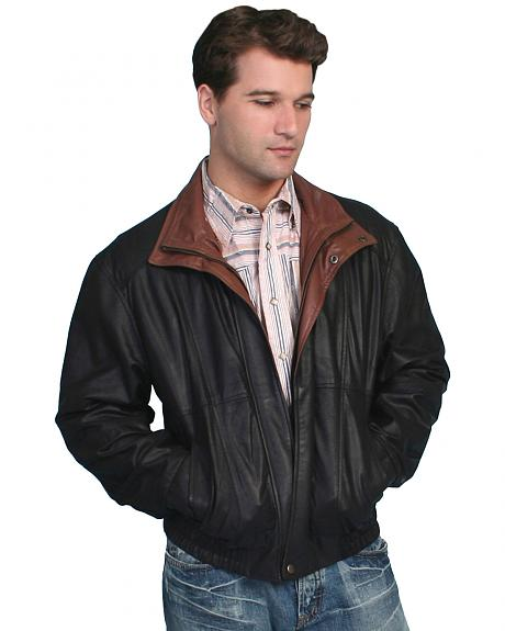 Scully Double Collar Leather Jacket - Big & Tall