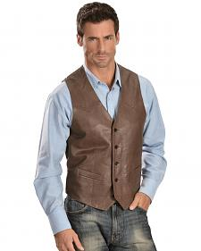 Scully Lambskin Leather Western Vest - Big & Tall