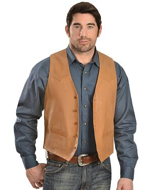 Scully Lamb Leather Western Vest - Tall