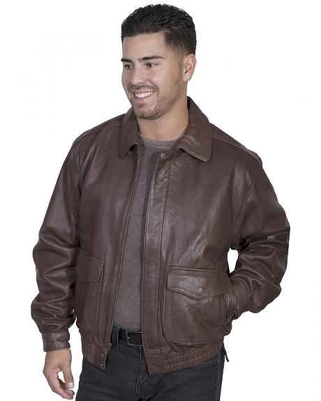 Scully Rugged Lambskin Leather Jacket