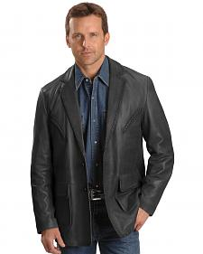 Scully Whipstitch Lambskin Leather Blazer - Big & Tall