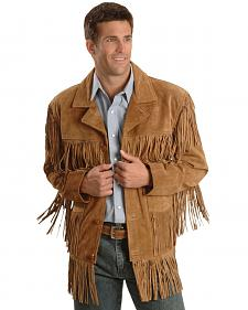 Liberty Wear Men's Suede Fringe Western Jacket - Big & Tall