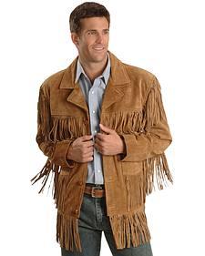 Liberty Wear Men's Suede Fringe Western Jacket - Big & Tall