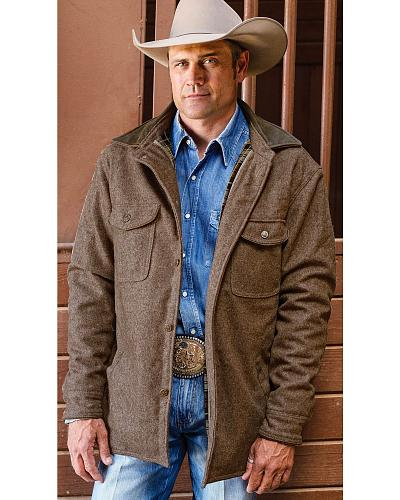 STS Ranchwear Mens Clifton Brown Wool Jacket Western & Country STS8246