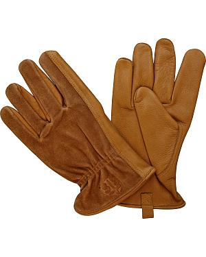 STS Ranchwear Two-Tone Leather Gloves