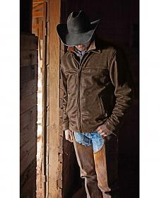 STS Ranchwear Men's Rifleman Brown Leather Jacket - Big & Tall - 4XL