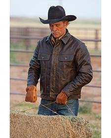 STS Ranchwear Men's Maverick Brown Leather Jacket