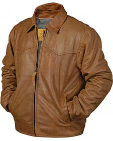 STS Ranchwear Men's Vegas Buckskin Leather Jacket - Big & Tall - 3XL-4XL