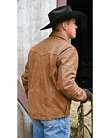 STS Ranchwear Men's Vegas Buckskin Leather Jacket - Big & Tall - 4XL