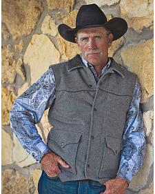 STS Ranchwear Men's Lariat Charcoal Grey Vest
